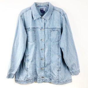 Venezia Jeans Womens Size 18/20 Blue Denim Jacket